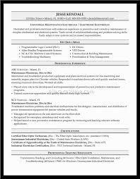 Electrician Resume Examples Electric System Operator Sample Resume Salesperson Resume