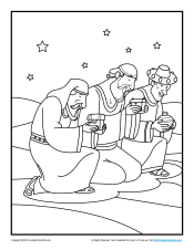 The Wise Men Bible Coloring Pages For Kids Wise Worship Coloring Page