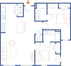 Two Bedroom Floor Plan Clemson Sc Apartments Grandmarc Clemson Floor Plans