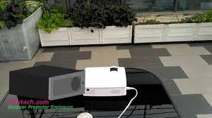 compare the outdoor projector screen enclosure vs outdoor tv