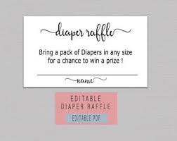 diaper card template etsy