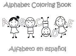 preschool alphabet coloring book in spanish teach u0026 learn the