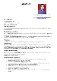 Sample Resume Objectives For Mechanical Engineer by Resume For Diploma Mechanical Engineer Experienced Personal