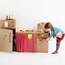 diy cardboard box kitchen u2013 top easy homemade kid craft decor