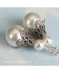 bridesmaid pearl earrings sweet deal on vintage style earrings wedding earrings antique