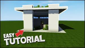 minecraft house tutorial small simple modern house best house