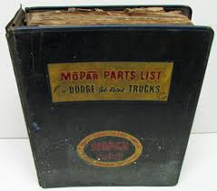 1948 1950 1952 1954 mopar dealer parts book plymouth dodge