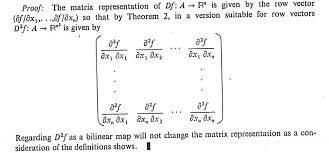 bilinear map analysis which is the correct hessian matrix the standard