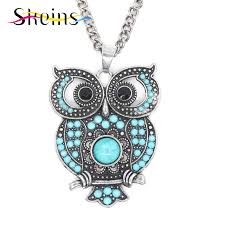 vintage owl necklace jewelry images Skeins jewelry foreign trade boho charm long popular retro jpg