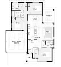 fascinating 3 bedroom rectangular house plans images best