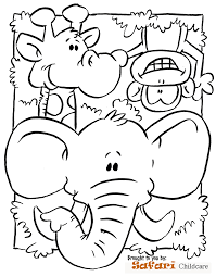 animal coloring page jungle safari coloring pages images of animal