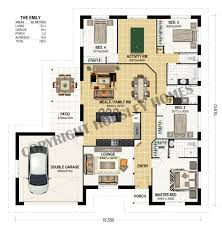 bedroom one story house plans sloping land homes duplex designs