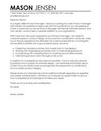 Example For Resume Cover Letter by Best Product Manager Cover Letter Examples Livecareer