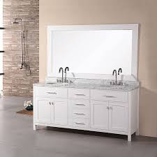 Marble Top Bathroom Cabinet Shop Design Element London Pearl White Undermount Double Sink
