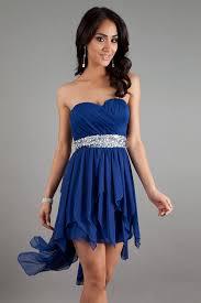 chiffon sweetheart beading asym royal blue cocktail dress 98
