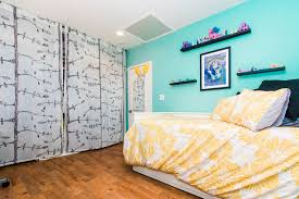 Ikea Ribba Picture Ledges Eclectic Kids Bedroom With Built In Bookshelf U0026 Hardwood Floors In