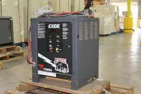 exide workhog electric forklift battery charger 24v model w1 12