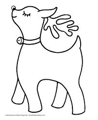 santa u0027s reindeer coloring pages easy to color santa u0027s reindeer