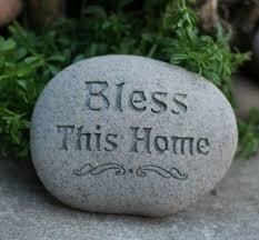 bless this home garden stone housewarming gift ready to ship