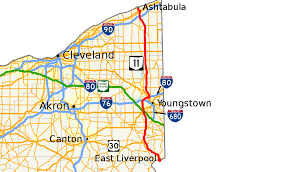 Southern Ohio Map by Ohio State Route 11 Wikipedia