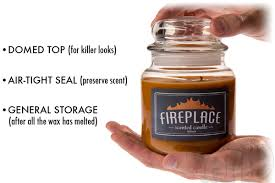 smells like home candles fireplace scented jar candle
