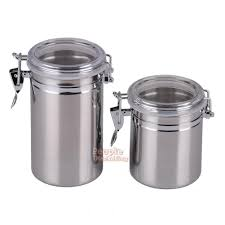 stainless steel airtight container canister kitchen coffee sugar