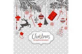 christmas clip art ornaments balls illustrations creative market