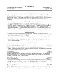Adjunct Instructor Resume Sample by Culinary Resume Examples
