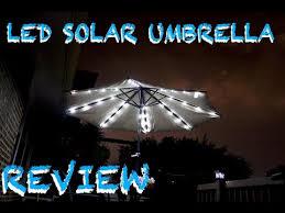 solar led umbrella lights solar powered led umbrella review youtube