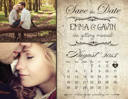 save the date magnet card or postcard rustic vintage calendar
