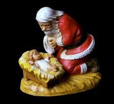 santa and baby jesus santa claus with baby jesus catholic