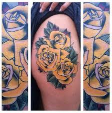 yellow roses hip tattoo by last angels tattoo best tattoo ideas