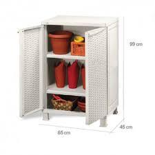 armadietti in pvc armadio keter rattan pvc resina basso marrone bianco 65x45x99 cm