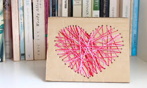 easy homemade card idea how to make a yarn heart card youtube