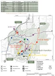 Phoenix Road Map by Quartz Ridge Trail 8a U2022 Hiking U2022 Arizona U2022 Hikearizona Com