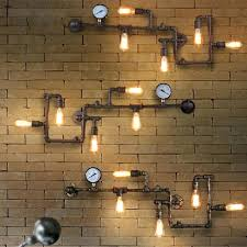 bedroom wall lighting vintage industrial wall art 1 vintage industrial steam pipe bar