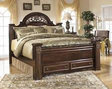 king poster bedroom set ashley furniture b347 gabriela queen king poster storage bed frame