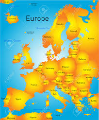 Map Of Eurpoe Vector Map Of Europe Continent Royalty Free Cliparts Vectors And
