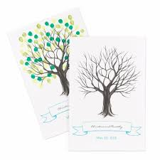 wedding tree guest book thumbprint tree guest signature poster invitations by