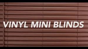 cordless 2 inch vinyl mini blinds short youtube