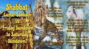 shabbat l shabbat lunar sabbath vs friday sundown to saturday sundown