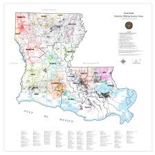 Map Of Louisiana maps electric distribution areas
