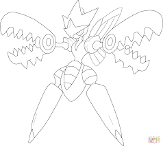 mega scizor pokemon coloring free printable coloring pages