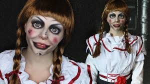 creepy doll makeup tutorial annabelle the conjuring youtube