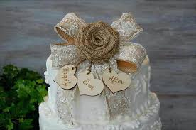 country wedding cake topper country wedding cake topper complement a barn with this burlap and