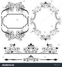 Borders For Invitation Cards Free Border Frame Designs Cards Invitations Stock Vector 93259264
