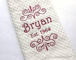 wedding gift towels custom kitchen towel etsy