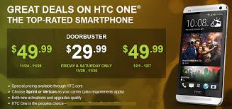sprint black friday htc one just 29 99 at sprint and verizon for black friday win a