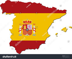 Blank Map Of Spain by Map Spain National Flag Isolated On Stock Vector 126694211