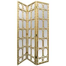 1970s trellis pattern beveled mirror folding screen for sale at